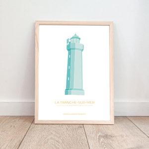 Affiche La Tranche sur Mer – Phare du Grouin du Cou