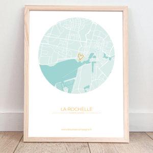 Affiche La Rochelle – Plan