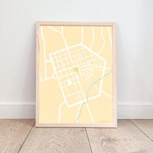 Affiche La Roche sur Yon – Plan