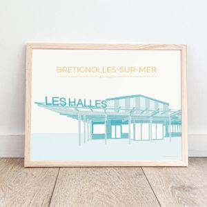 Affiche Brétignolles-sur-Mer – Les Halles