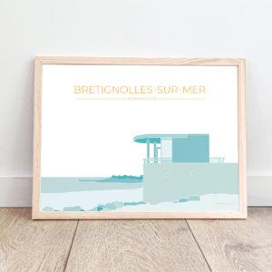 Affiche Brétignolles-sur-Mer – La Normandelière