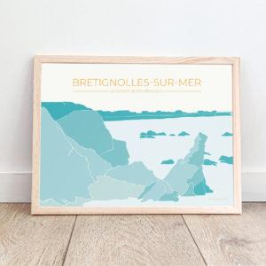 Affiche Brétignolles-sur-Mer – Le Rocher de Sainte-Véronique