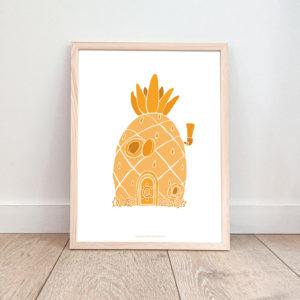 Affiche enfant – Maison Ananas