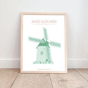 Affiche Jard sur Mer – Moulin de Conchette