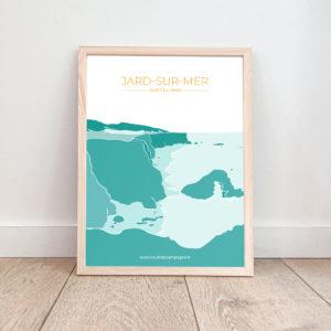 Affiche Jard sur Mer – La Pointe du Payré