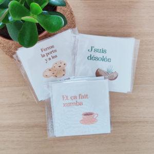 Lot de 3 cartes
