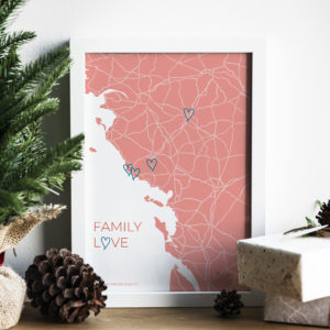 "Affiche ""Family Love"" personnalisable"