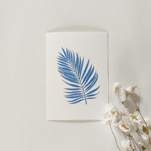 Carte postale – Feuille palmier