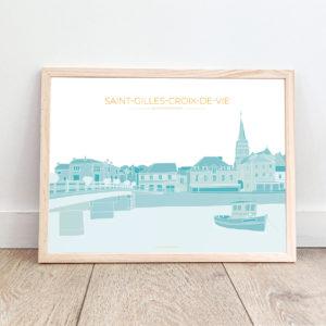 Affiche Saint-Gilles-Croix-de-Vie – Quai du Port Fidèle