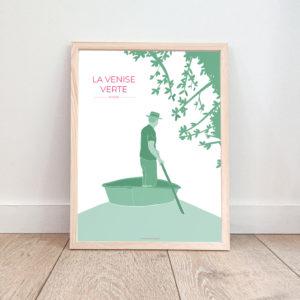Affiche Venise Verte