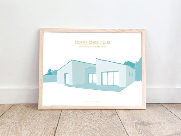 dessin maison personnalisé