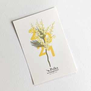 carte de vœux polka accompagnement