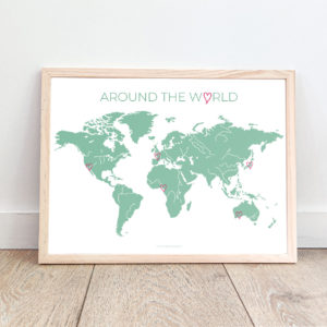 affiche carte du monde